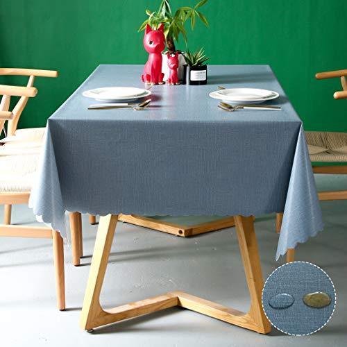 Pahajim Mantel de PVC impermeable Rectángulo de paño de aceite Mantel de paño de mesa limpiable Cubierta de mesa para uso exterior e...
