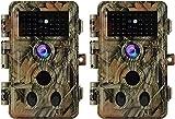 2-Pack No Glow Trail Game Deer Cameras Night...