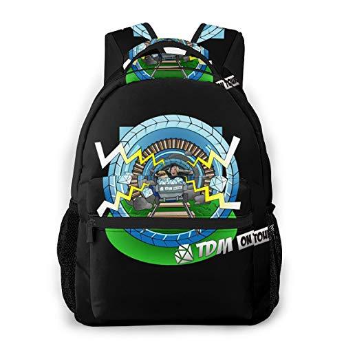 NA Unisex DaG_TXM Logo Travel Laptop Backpack, Water Resistant College School Computer Bag Bookbag for Girls & Boys Outdoor Camping