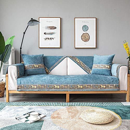 JIAHENGY Cubre Sofas Impermeable Protector,Cojín de sofá Moderno Universal, Toalla de sofá de Tela, Funda de sofá Impermeable y Antiarrugas-Azul Marino_70x150cm / (27x59 Pulgadas)