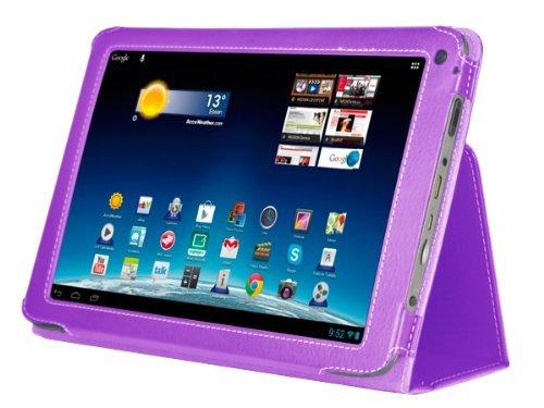 Navitech Lilane Executive Echte Premium Leder Flip Trage Tasche mit Einstellbarem Ständer für das Neue Medion Lifetab E10320 10,1 Zoll Internet Tablet