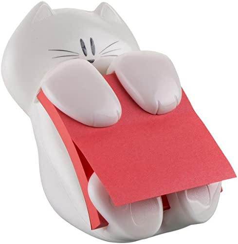 Post-it Distributeur de notes repositionnables en dévidoir avec Motif Chat Blanc