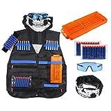 niceEshop Kit De Gilet Tactique pour Enfants Gamme Elite N-Strike