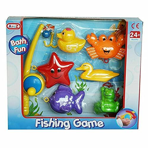 HOVUK Juego de pesca Baño Diversión y Actividad Educativa Juguete de juego preescolar para niños 2+años