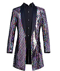 Blazer Button Stage Clothes Sequin Glitter Coat