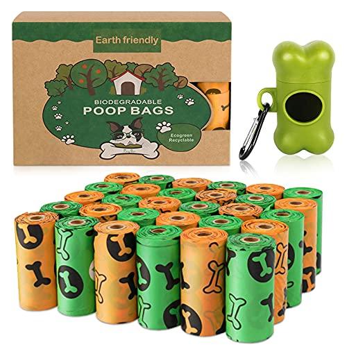 Sacchetti per Cani,Dog Poo Bags,30 Rotoli (450 Sacchetti) Prova Forti e Prova di Perdite Dog Sacchetti di Rifiuti con Dispensers,Dog Poop Sacchetti per Bisogni dei Cani Borse per Cacca