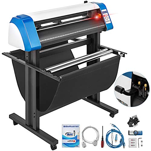 VEVOR Vinyl Cutter 34 Inch Vinyl Cutter Machine Semi-Automatic DIY Vinyl Printer Cutter Machine Manual Positioning Sign Cutting with Floor Stand Signmaster Software