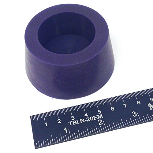 (1) 2 7/16' x 3' #13.5 High Temp Silicone Rubber Tapered Stopper Plug Powder Coating Paint Masking