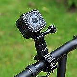 PULUZ 360 Degree Rotation Bicycle Bike Aluminum Handlebar Adapter Mount with Screw for DJI Osmo Action Hero 7 Black/Hero 6 / Hero 5 Hero 4 Session Xiaoyi MiJiaSport Camera (Black)