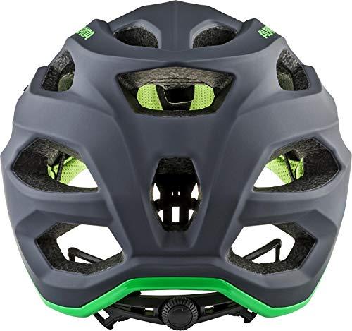 Alpina Unisex– Erwachsene CARAPAX 2.0 Fahrradhelm, Charcoal-Green, 57-62 cm - 4
