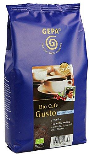 GEPA Gusto Bio Kaffee Koffeinfrei gemahlen - Reiner Bio Arabica - 1 Karton ( 10 x 500g )