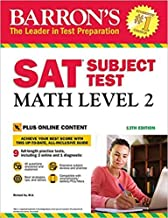 [1438011148] [9781438011141] Barron's SAT Subject Test: Math Level 2 with Online Tests 13th Edition-Paperback