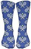 Raquetas de tenis azules mediados de la pantorrilla calcetin