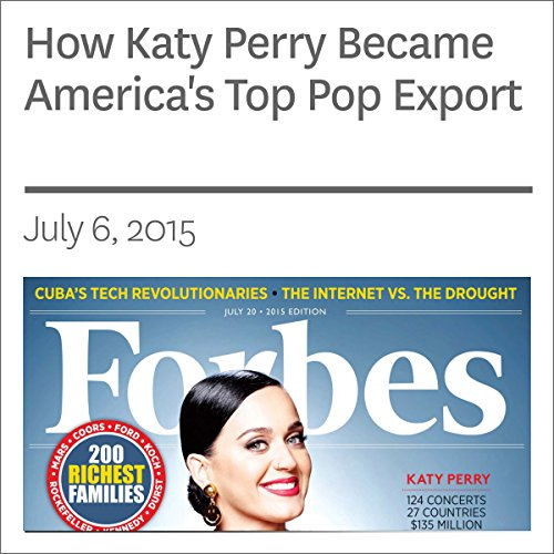 『How Katy Perry Became America's Top Pop Export』のカバーアート