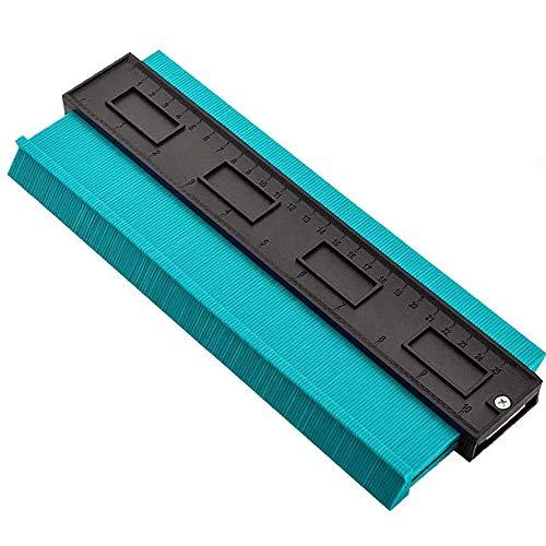 ALSKY 型取りゲージ 250mm コンターゲージ , 曲線定規 測定ゲージ 不規則な測定器 ,コンターゲージ DIY用 角度と曲線をコピーする測定ゲージ 目盛付き (グリーン)