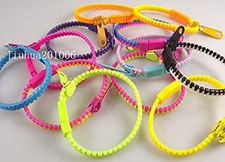 FidgetGear wholesa 24 PCS Zipper Bracelets 12Color Mix Hip Zip Bracelets Gift Wholesale Show One Size