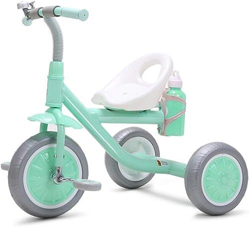 nuevo estilo Yuany Triciclo, Triciclo portátil Multifuncional para Niños con hervidor, Triciclo Triciclo Triciclo Exterior para bebé de 2-5 años, 2 Colors, 60x65x45cm (Color  verde)  descuento online