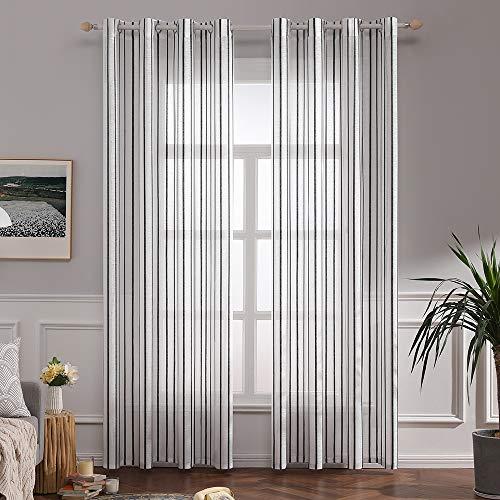 cortinas salon modernas 2 piezas blancas