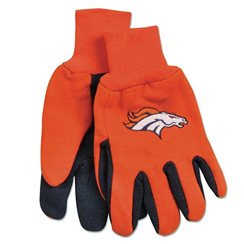 NFL Denver Broncos Unisex Nflnfl Two-Tone Gloves, Orange, One Size