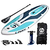 SUP NIXY Inflatable Stand Up Paddle Board for Beginners and Yoga. Ultra Light 10'6' Venice Paddle Board Built with Advanced Fusion Laminated Dropstitch Technology (Purple)