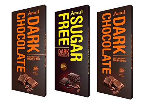 Amul Chocolate: 2 Dark and 1 Sugarfree