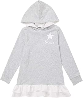Fairy-Baby Toddler Girls Hoodie Stlye Autumn Dress Long Sleeve Cotton Playwear for Baby Kids