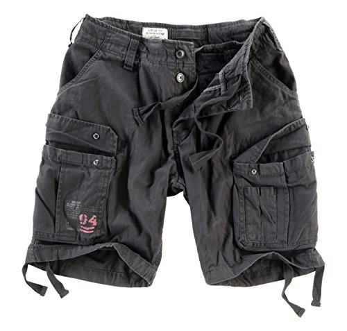 Surplus Raw Vintage Airborne Vintage Herren Cargo Shorts, schwarz, M