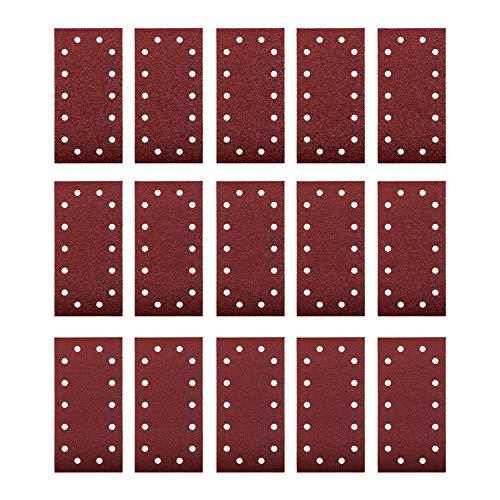 kwb by Einhell 15-tlg. Schleifpapier Set Schwingschleifer-Zubehör (230x115 mm, Körnung 40 / 80 / 120, 14 Löcher, Kletthaftung)