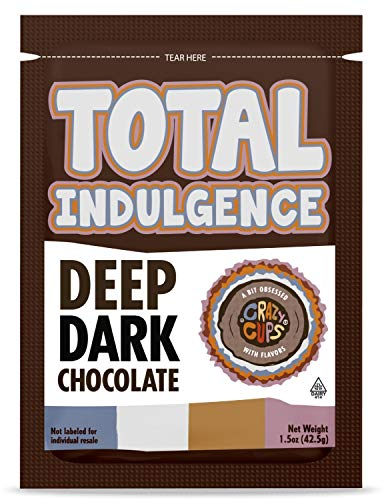Gourmet Hot Chocolate Packets, Indulgent Dark Chocolate Hot Chocolate Mix - 15 Hot Cocoa Packets of Total Indulgence Deep Dark Chocolate Hot Cocoa Powder -42 Grams of Hot Cocoa mix in every packet.