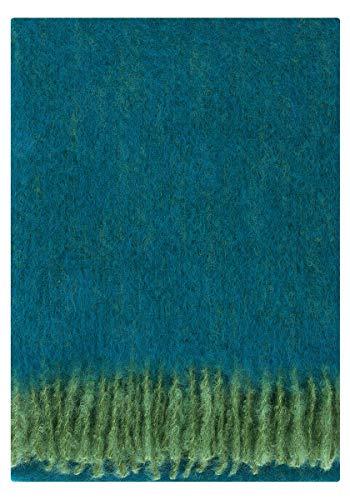 Lapuan Kankurit Revontuli Mohair-Wolldecke 130x170 cm grün, Petrol