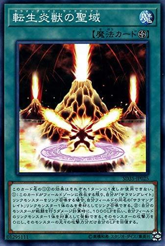 遊戯王カード 転生炎獣の聖域(ノーマル) ソウルバーナー(SD35)   ストラクチャーデッキ サラマングレイト・サンクチュアリ フィールド魔法 ノーマル