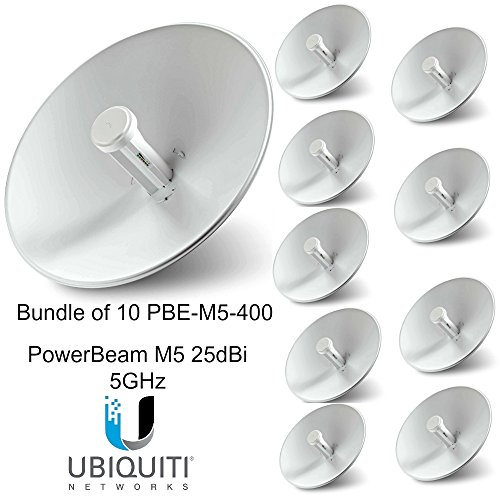 Ubiquiti PBE-M5-400 (10-pack) PowerBeam M5 25dBi 5GHz AirMAX CPE 400mm 150+ Mbps
