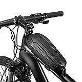 Bolsa para Montar En Bicicleta Bolsa para Sillín Carcasa Rígida Marco Delantero Bolsa para Bicicleta Tubular Bicicleta De Montaña A Prueba De Lluvia Carretera Plegable Multifunción Delantero Carbono