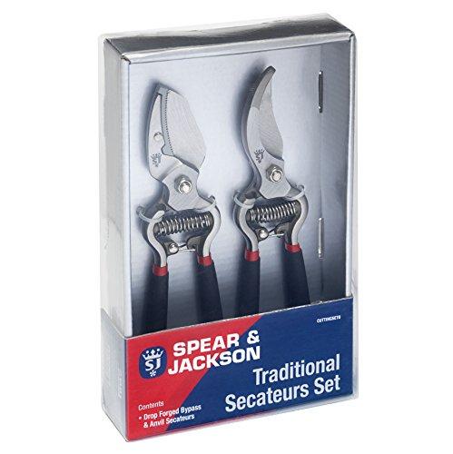 Spear & Jackson Cuttingset8 Conjunto de Tijeras de Corte Deslizante y de Yunque Tradicional, 20x20x6 cm