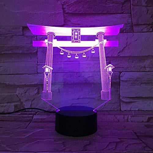 3D illusie licht kerstgeschenk lichten slinger 16 kleurverandering touch schakelaar 3D nachtlampje geschikt voor kinderen en volwassenen slaapkamer decoratie lamp