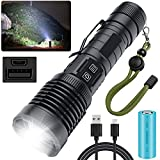 Rechargeable LED Flashlights, 100000 High...