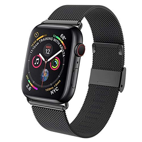 AZABEI Compatibile con Apple Watch Cinturino 38mm 40mm, Acciaio Inossidabile Ricambio Cinturini, per Apple Watch Series 5/4/3/2/1 Nero