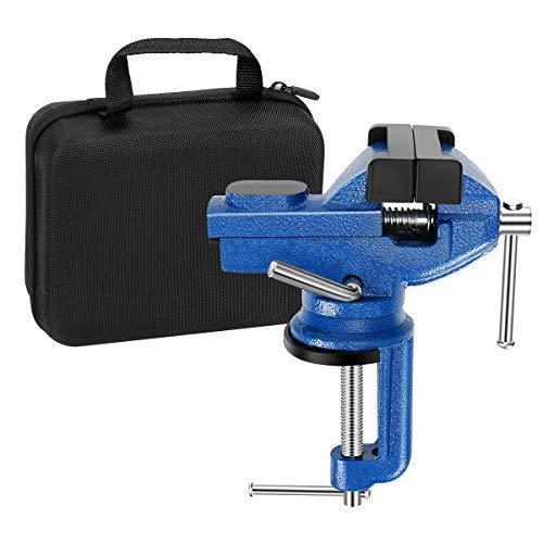 万力 回転式 ベンチバイス 口幅約70mm 最大開口約70mm 回転盤 360°回転 切削 研磨 切断 加工 固定 接着 強力 作業台 卓上 テーブル 締め 工具