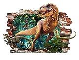 Dinosaurier T-Rex 3D entfernbarer PVC-Aufkleber
