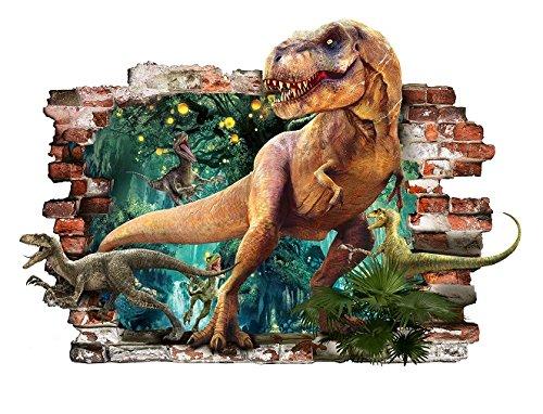 Dinosaure T-Rex 3d amovible en PVC Autocollant mural Home Decor Chambre ? coucher Autocollant Papier mural Stickers pour Kid Chambre de 57?cm x 81?cm