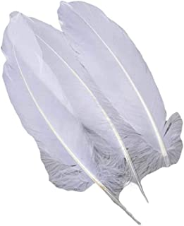 Pigeon Fleet 150 Pcs 4-6 Inch White Artificial Goose Feathers for Dream Catcher Crafts and Clothing Decoration