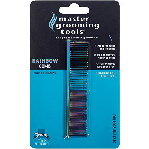 Master Grooming Steel Rainbow Greyhound Comb