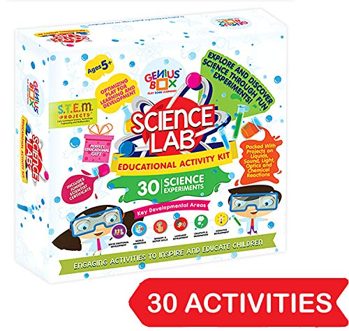 Genius Box Educational Toy for 5 Years and Up: Science Lab DIY, Activity Kit, Learning Kit, Educational Kit, STEM Toy