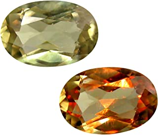 Deluxe Gems 2.24 ct Oval Cut (10 x 7 mm) Unheated/Untreated Turkish Color Change Diaspore Natural Loose Gemstone