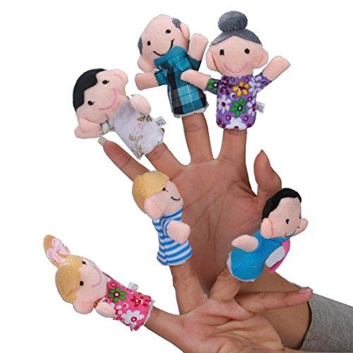 Juguete del bebé, RETUROM 6 Peces Finger Story diciendo marioneta de mano para los juguetes del bebé