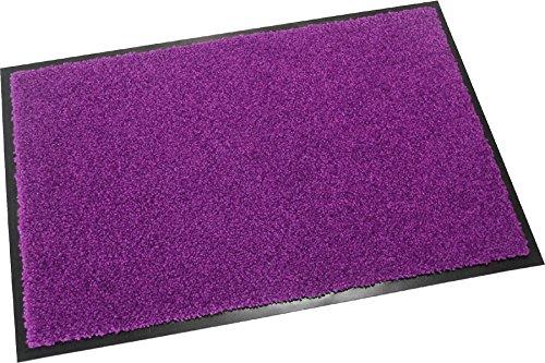 Hochwertige Fußmatte (Lila / 60x40 cm) waschbare Schmutzfangmatte - Höhe 8 mm - mit guter Wirkung gegen Nässe und Schmutz (bis zu 4L Wasser/m2)