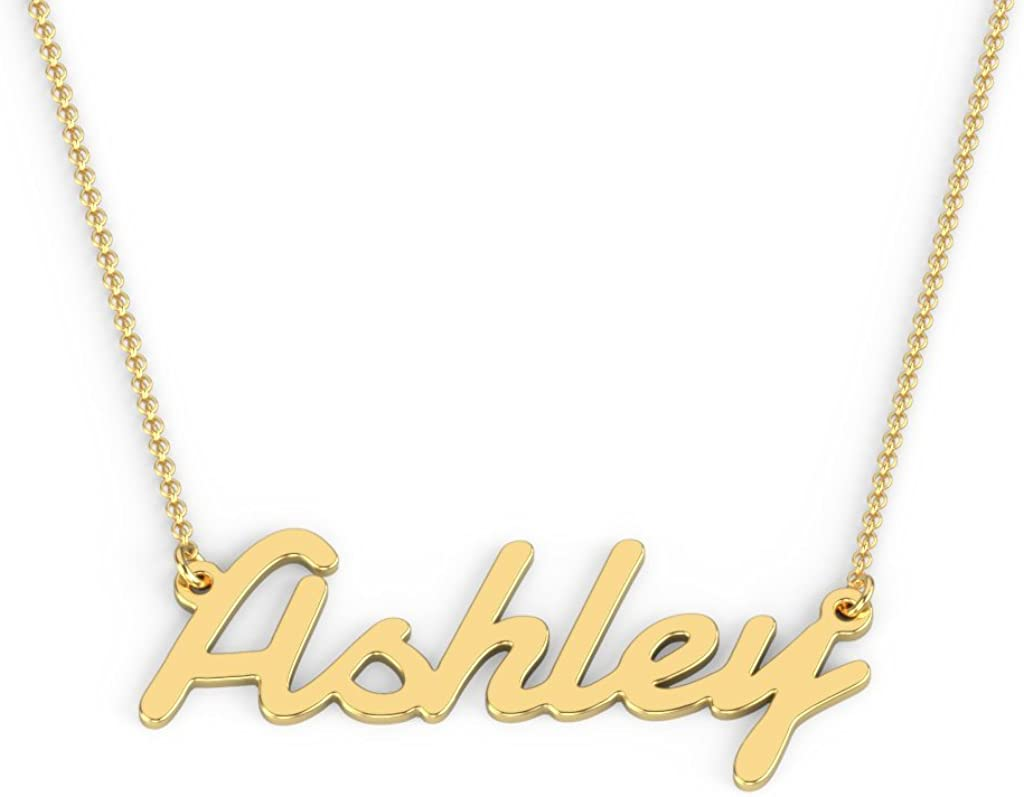 10K Personalized Name Necklace in Damion Font by JEWLR