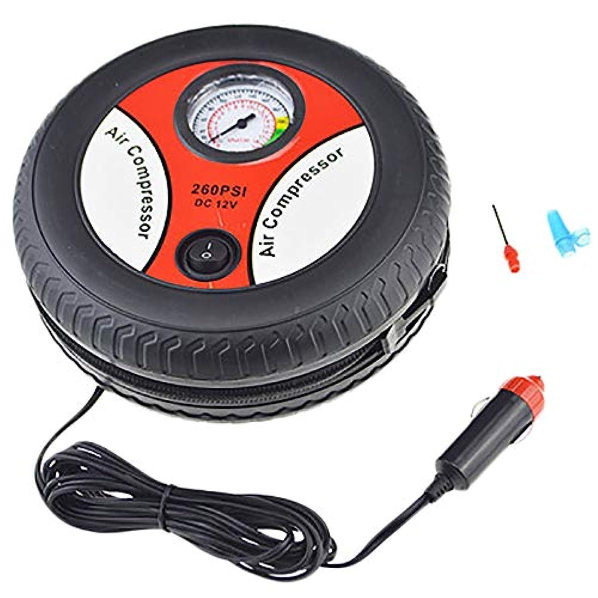未亡人秀でる不注意Semoic タイヤインフレータカーエアーポンプコンプレッサー電気携帯用自動12Vボルト260 Psi