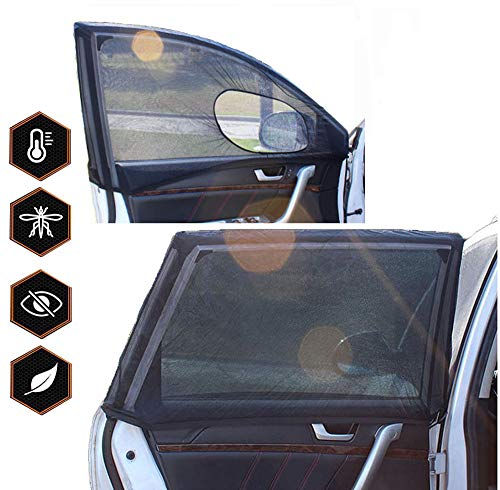 ZONSUSE Car Side Window Sun Shade, Car Sun Shade Blocking Car Mosquito Net for Baby, Blocks UV Rays/Anti-Sun Glare/Full Protection/Allow Air Flow/Easy Fit - Universal-Fits Most (99%) Models
