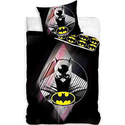 DC Comics Batman - Juego de funda de edredón (algodón, 160 x 200 cm)